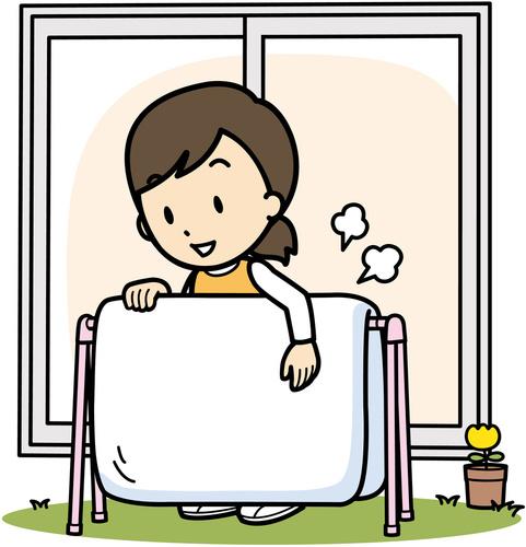 掛けふとんは5年、敷きふとんは3年ごとにクリーニングを。