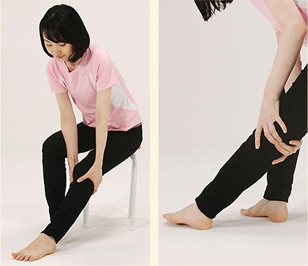 ひざ裏の中心、コリコリとしたり痛みを感じるところが委中のツボ