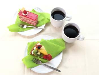 食べ物(ケーキ)の撮影