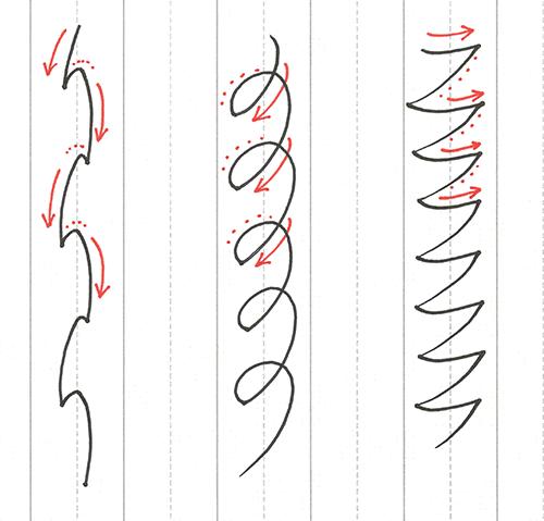直線で漢字の練習