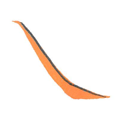 書き始めは細く、徐々に力を加えたら、穂先を浮かせるようにして、右に水平にはらいます