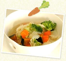 冬野菜としょうがのスープごはん