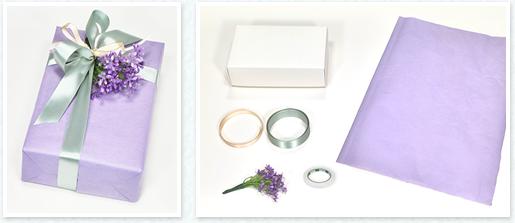 包装紙の取り方と包み方が簡単な合わせ包みという箱のラッピング