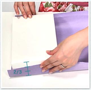 箱の縦の高さ+箱の厚みの3分の2の長さ