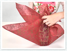 反対側も、間の紙を内側に入れて前後に羽根を作ります。
