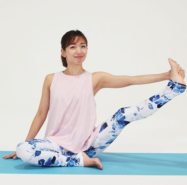 背骨を伸ばして、足を股関節から動かして、大きく円