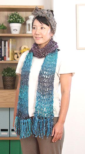 ゆびガーター編み