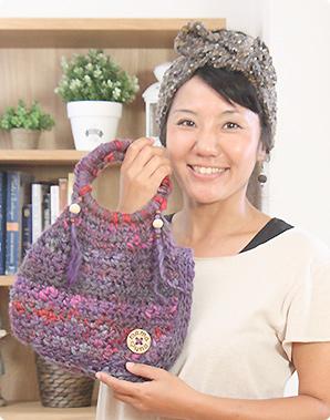 糸選びも楽しみ!いろいろな糸で編んでみて