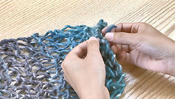 全て隠したら、編み終わり