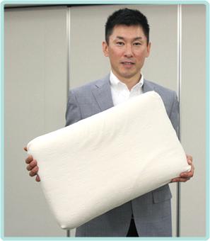 先程の寝姿勢圧測定器を使った検証で「体に合った高さの枕」に使用のが、この「コンフォートピュディー®」です。