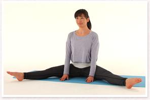 股関節の柔軟性をチェック(開脚)