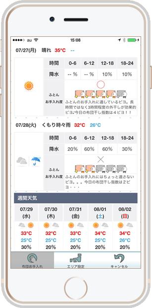 お天気アプリ