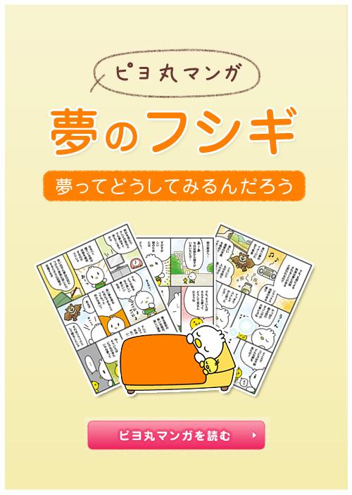 ピヨ丸マンガ 夢のフシギ ~夢ってどうしてみるんだろう~ ピヨ丸マンガを読む