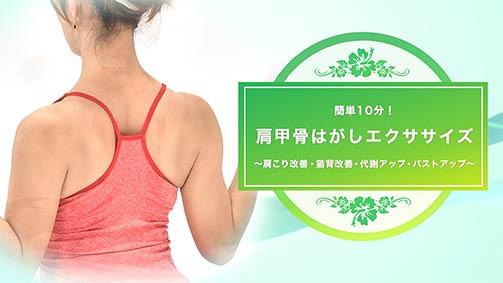 肩甲骨はがしエクササイズ ~肩こり改善・猫背改善・代謝アップ・バストアップ